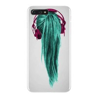 headphones girl iPhone 7 Plus Case