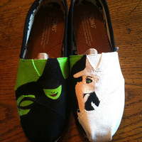 Wicked, the musical Hand Painted TOMS Shoes