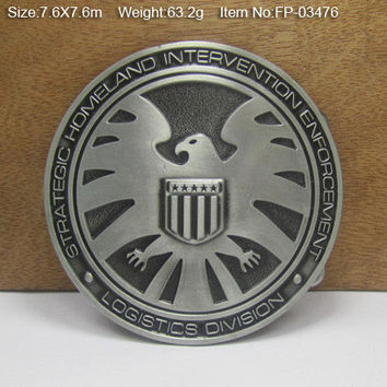 Agents of S.H.I.E.L.D. Shield Cowboys Cowgirls Metal Belt Buckle Texas Fashion Mens Western Badge Feathers Native Avengers