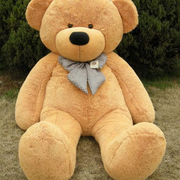 "Joyfay® 78"" 200cm 6.5ft Giant Teddy Bear Brown Huge Stuffed Toy Birthday Gift"
