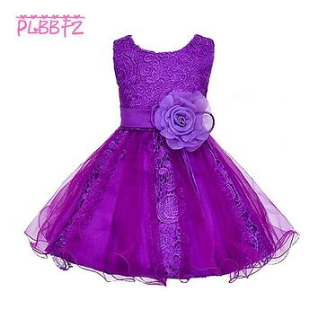 Retail Lace Floral Embroidery Flower Girl Dresses for Weddings Pageant Party Evening Gowns First Communion Dresses L015
