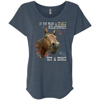 Horse T-shirt, Horse Gift, If You Want A Stable Relationship Get A Horse