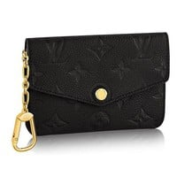 ONETOW Louis Vuitton Monogram Empreinte Leather Key Pouch Noir Article: M60633