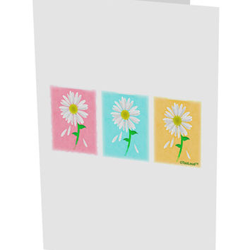 "Pretty Daisies Watercolor 10 Pack of 5x7"" Side Fold Blank Greeting Cards"