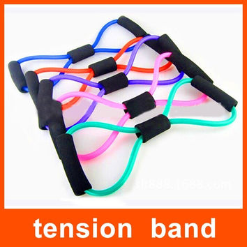 1pc Resistance Training Bands Tube Workout Exercise For Yoga 8 Type Fitness Body Building Fitness Equipment Tool = 1741731204
