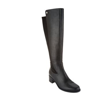 Marc Fisher Black Leather Incept Medium Calf Tall Shaft Boots