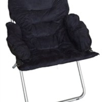 College Club Dorm Chair - Plush & Extra Tall - Black Dorm Room Furniture College Stuff Soft Comfy Seating
