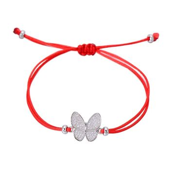 Micro Cubic Zirconia Butterfly Bracelets for Women