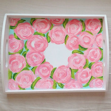 """Lilly Pulitzer """"First Impression"""" Accessory Tray with Monogram"""