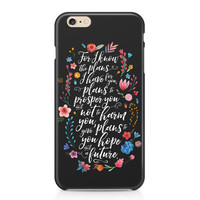 Jeremiah 29:11 Phone Case - Floral Phone Case - Hope and a Future - Scripture Phone Case - Graduation Gift - iPhone - Galaxy