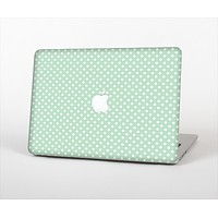 """The Light Green with White Polkadots Skin Set for the Apple MacBook Pro 13"""""""