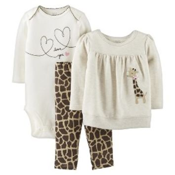 Just One You™Made by Carter's® Newborn Girls' 3 Piece Set - Brown/Khaki