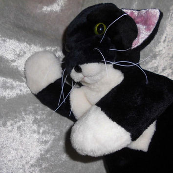 Soft toy TUXEDO CAT handmade, Memory Cat breeds from Photo, Black and White Cat plush, stuffed animal cat individual markings, Made to ORDER