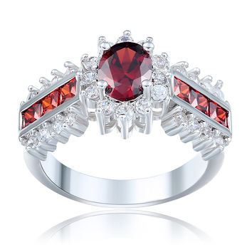 Red cz zircon women promise Engagement Ring  su 6 7 8 9 10 11 12 large size gift for women finger Wedding Rings DROPSHIPPING