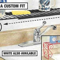 Expandable Scroll Metal Over The Sink Shelf - Black