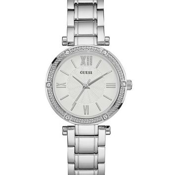 Silver-Tone Petite Sparkle Watch at Guess