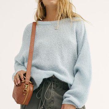 Free People - Light Blue Angelic Pullover Sweater