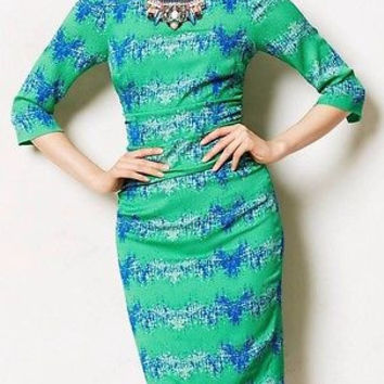 NWT Anthropologie Emerald City Sheath Dress Sz 2 P - by Tracy Reese