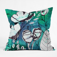CayenaBlanca Abstract Garden Outdoor Throw Pillow