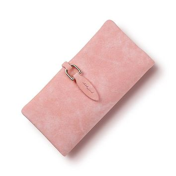 2017 latest women leather leaf long wallet female coin purse change clasp purse money bag coin card holders carteras wallets
