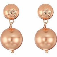 Tory Burch Crystal Pearl Drop Earrings