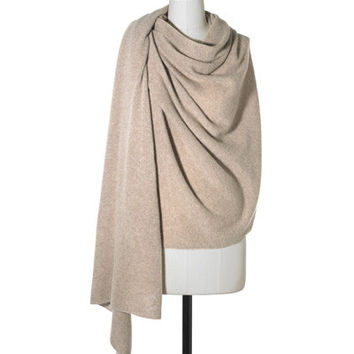 FAWN HEATHER CASHMERE TRAVEL WRAP