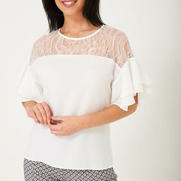 Top with Lace Front Detail Ex Brand Ex Brand