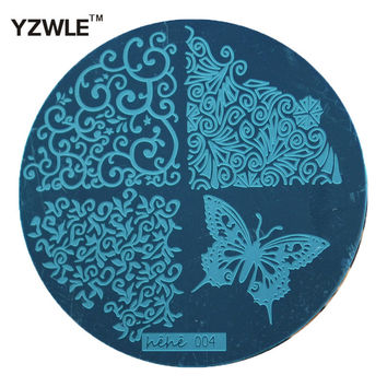 Creative 2015 Butterfly Lace Template Pattern Nail Art Image Stamping Steel Plates 5.5cm Manicure Template (hehe004)