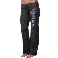 TCU Horned Frogs Ladies Comfort Stamp Tri-Blend Pants - Charcoal