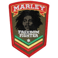 Bob Marley Men's Embroidered Patch Red