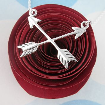 Crossed Arrows of Friendship Necklace
