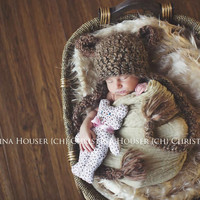 Blonde Mongolian Faux Fur Rug Photography Prop Newborn Baby