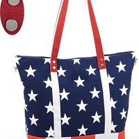 Punk Style Star Print Leisure Canvas Handbag