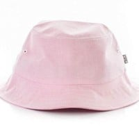 NWT Small / Medium HUF Light Pink Oxford Bucket Hat Mens Womens Boho Hippy Hot