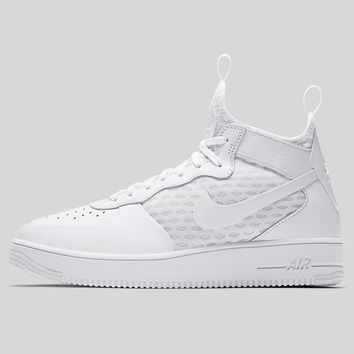 AUGUAU Nike AIR FORCE 1 ULTRAFORCE MID White White-White