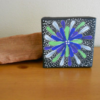 Painting Purple and Green by Acires on Etsy