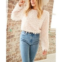 somedays lovin - glorious shaggy cropped sweater top - cream