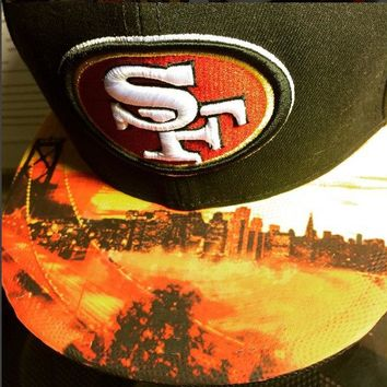 San Francisco 49ers  New Era Snapback or Fitted Cap with Golden Gate Bridge custom