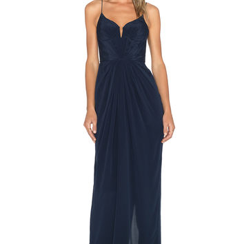 Zimmermann Balconette Maxi Dress in French Navy