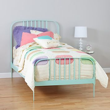 Twin Larkin Metal Bed (Mint) | The Land of Nod