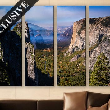 Extra Large Wall Art Nature Fine Art Canvas Wall Decor Modern Wall Hanging Fine Art Yosemite National Park Wall Art Poster for Room Decor