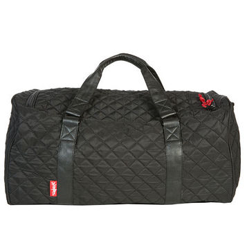 The Mayor Duffle Bag In Quilted Black Red