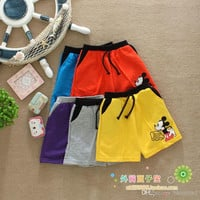 2-5Y Children Casual Pants Baby Wear Summer Short Fashion Mouse Monkey Print Short Kids Pants Boys And Girls Casual Short Children Clothing