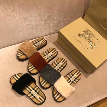 Burberry Fashion and leisure Maomo Slipper-3