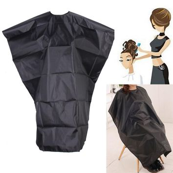 Hair Cutting Cape Large Salon Adult Waterproof Hair Cutting Hairdressing Cloth Barbers Hairdresser Cape Gown Wrap Black