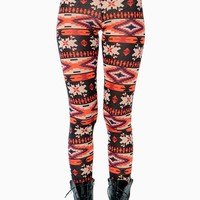 Coral Tribal Hacci Legging