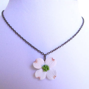 Dogwood Necklace, Spring Flower Necklace, Dogwood Flower Necklace, Dogwood Bridesmaid Necklace, Flower Necklace, Sp