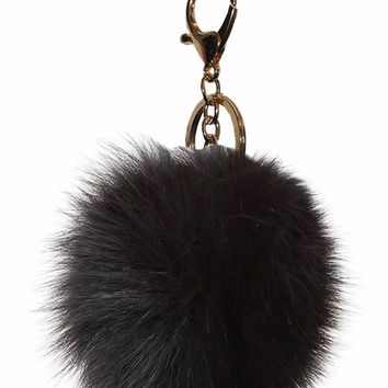 Pom Pom Key Chain Bag Charm Fur Ball Keychain GOLD colours available