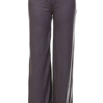 Grey Palazzo Pants - Women & Plus