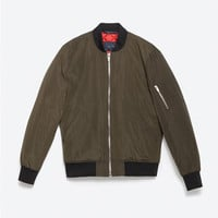 BOMBER JACKET METAL ZIP